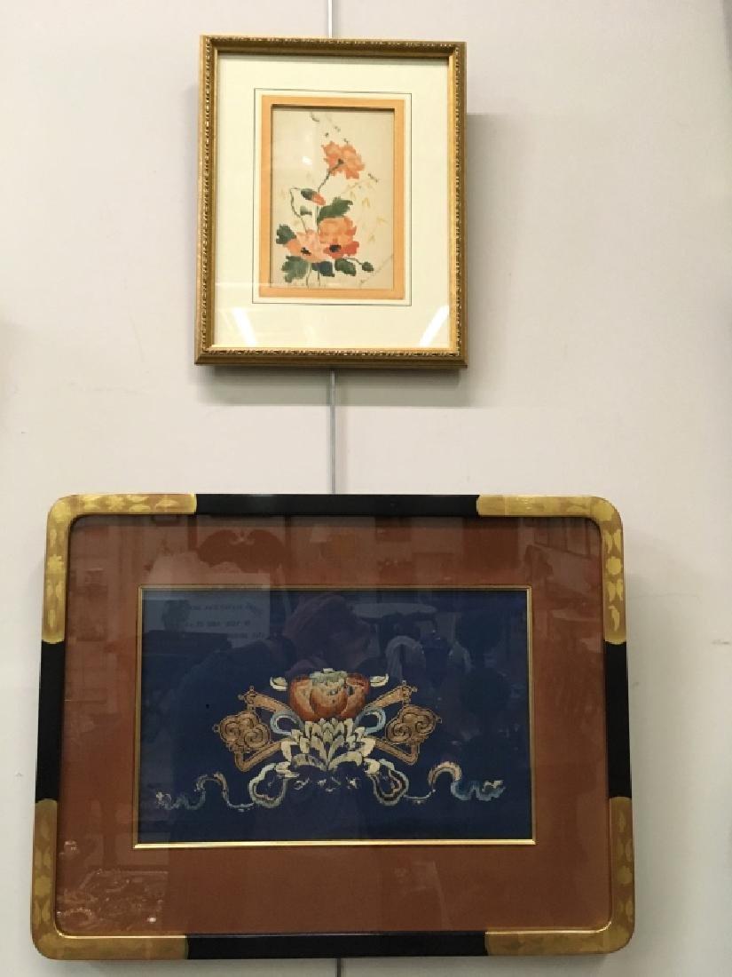 TWO PCS OF FRAMED ARTWORK