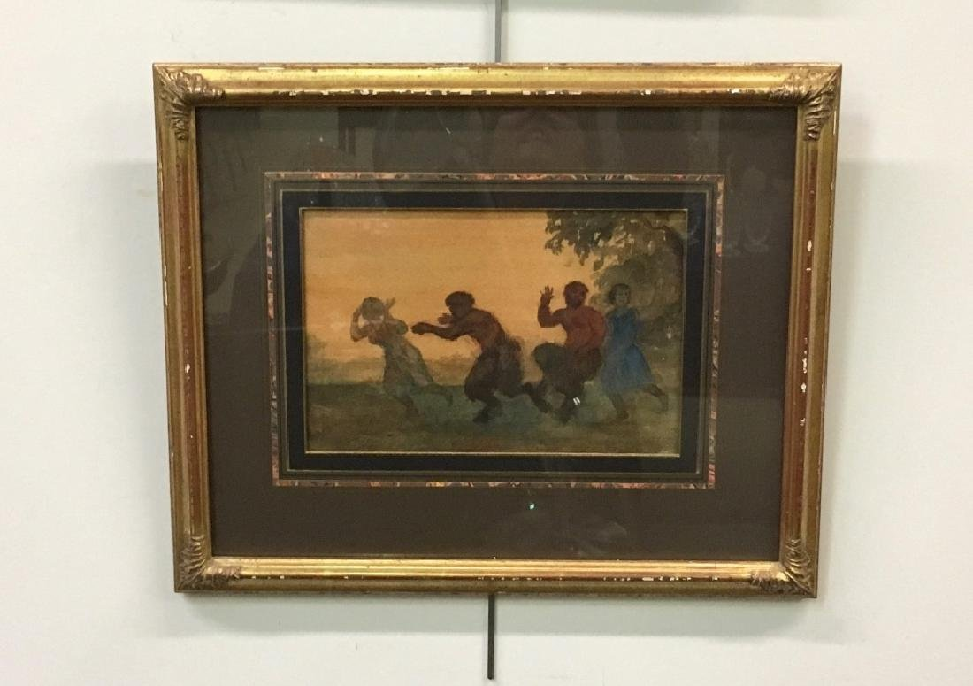 UNSIGNED WATERCOLOR OF SATYRS