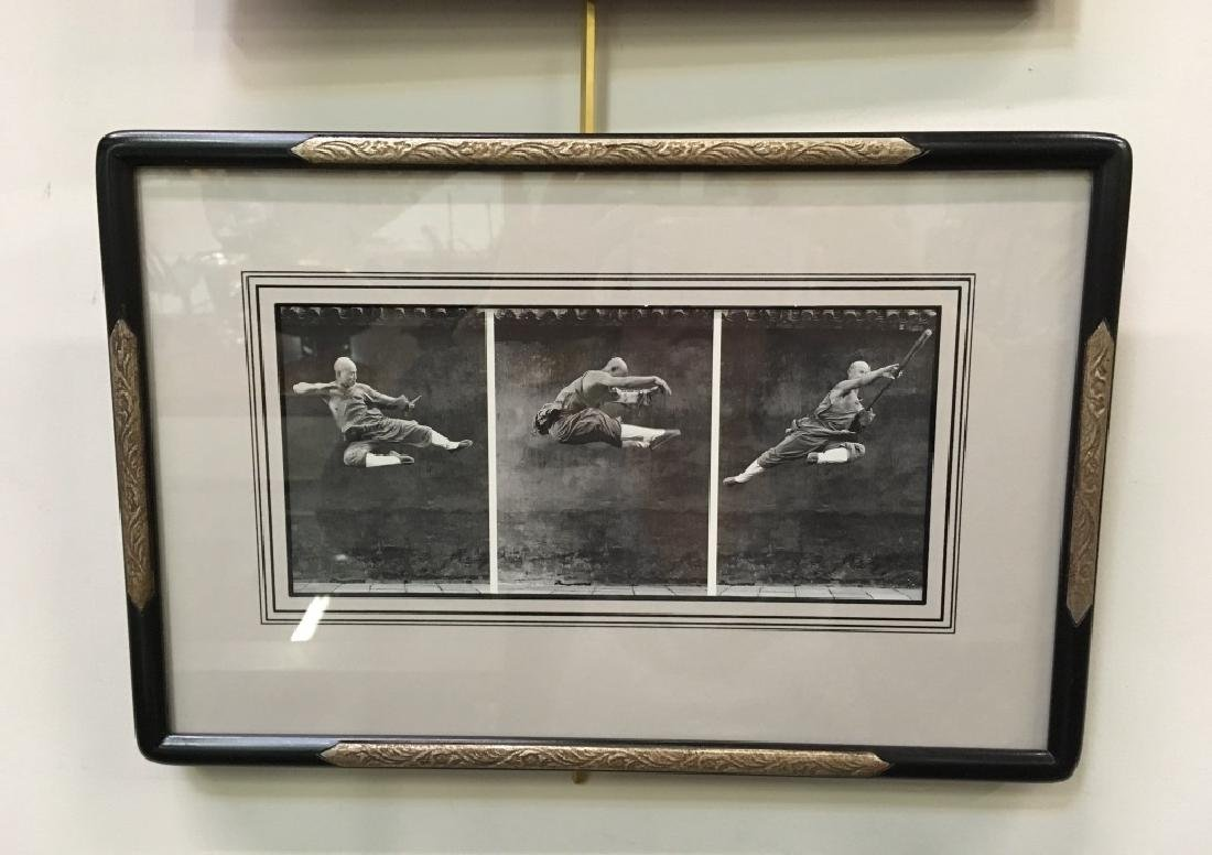 FRAMED PRINT OF CHINESE MARTIAL ARTS