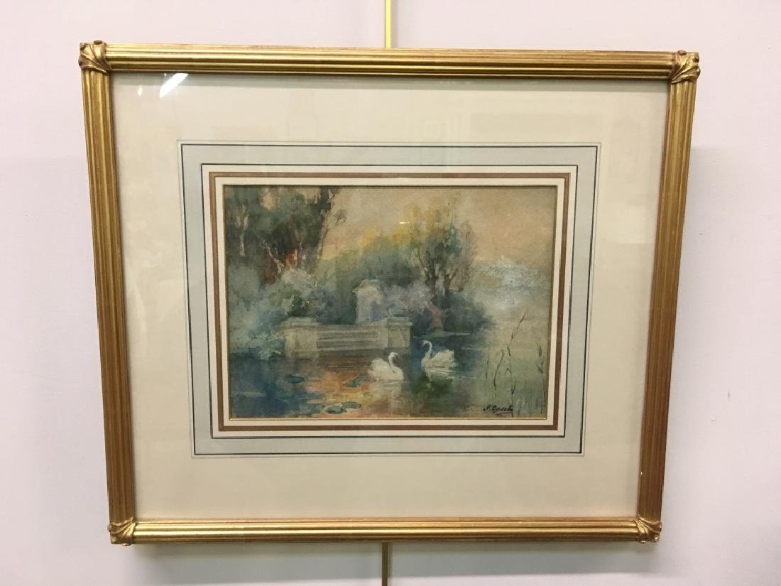 SIGNED WATERCOLOR BY ALEXANDER ORLOV