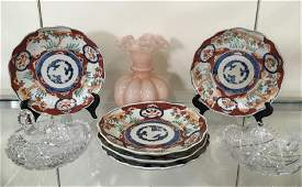 EIGHT PCS OF IMARI  DECORATIVE ITEMS