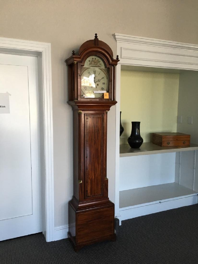 FEDERAL INLAID TALL CASE CLOCK BY ELNATHAN TABER - 17