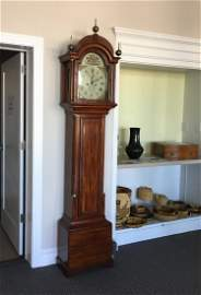 FEDERAL INLAID TALL CASE CLOCK BY ELNATHAN TABER