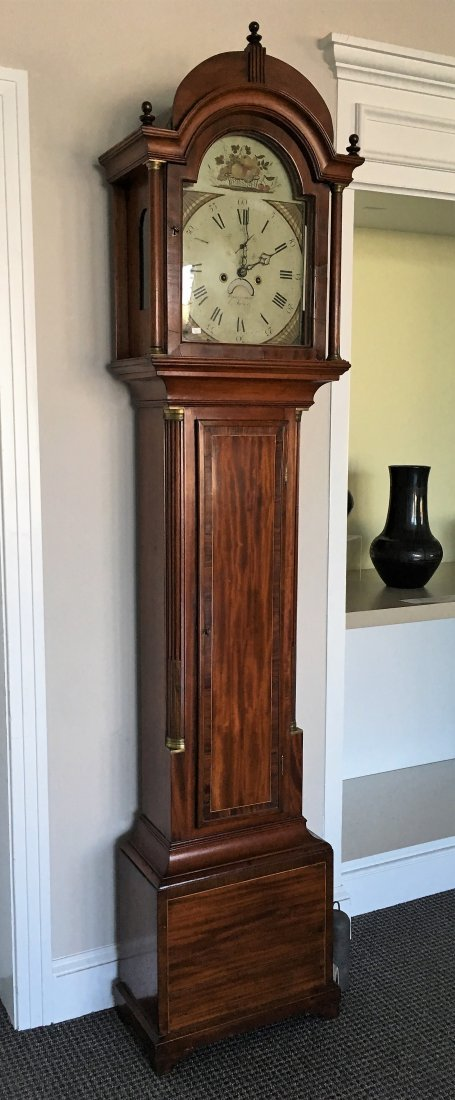FEDERAL INLAID TALL CASE CLOCK BY ELNATHAN TABER - 2
