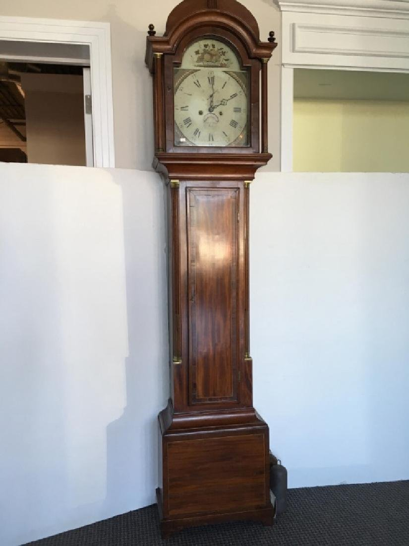 FEDERAL INLAID TALL CASE CLOCK BY ELNATHAN TABER - 3