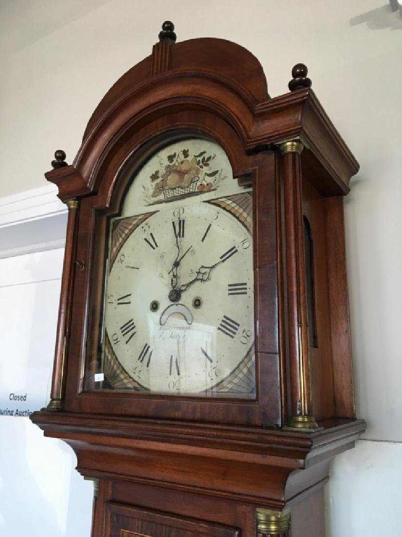 FEDERAL INLAID TALL CASE CLOCK BY ELNATHAN TABER - 4