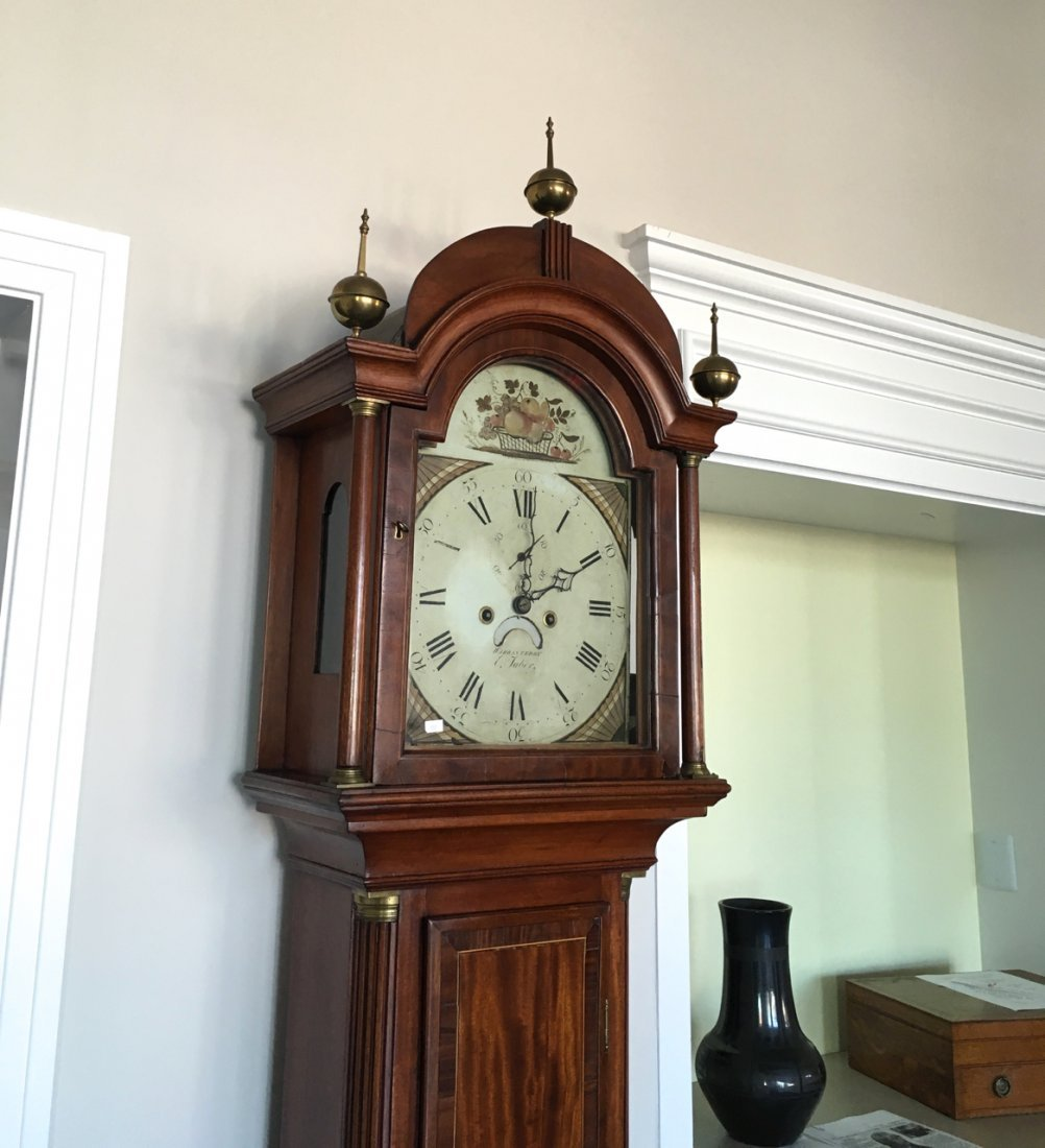 FEDERAL INLAID TALL CASE CLOCK BY ELNATHAN TABER - 5