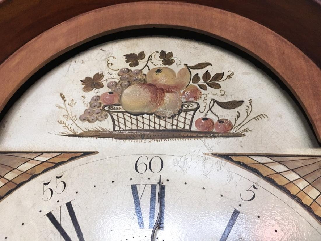 FEDERAL INLAID TALL CASE CLOCK BY ELNATHAN TABER - 6