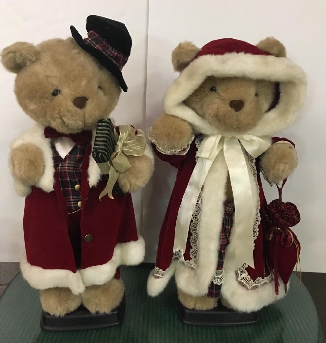 PR OF ANIMATED CHRISTMAS BEAR DECORATIONS