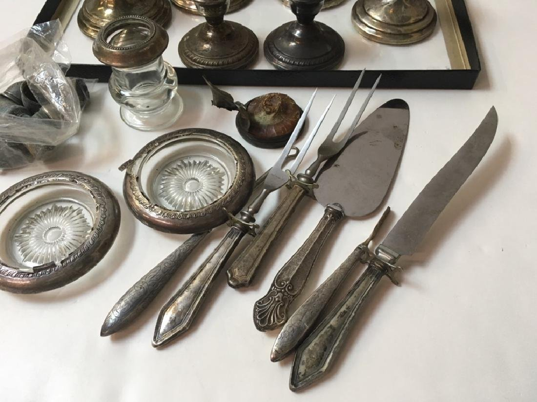 STERLING CANDLESTICKS, FLATWARE, COASTERS PLUS - 5