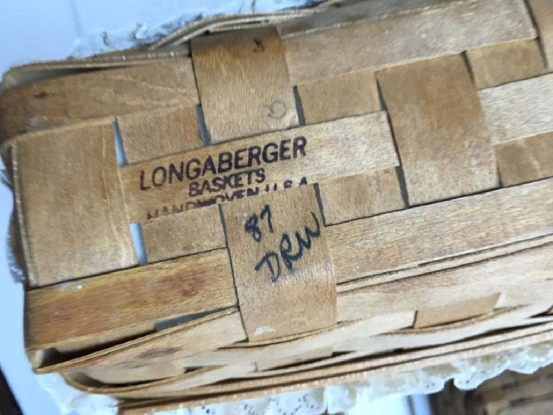 7 LONGABERGER SIGNED & DATED BASKETS - 8