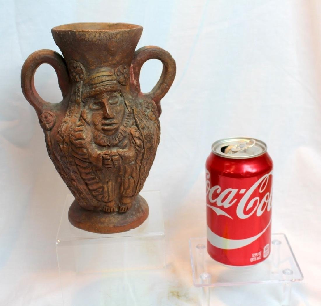 PRE-COLUMBIAN STYLE FACE PITCHER & VASE - 7
