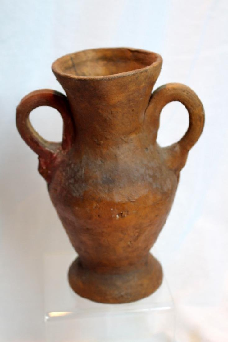 PRE-COLUMBIAN STYLE FACE PITCHER & VASE - 8