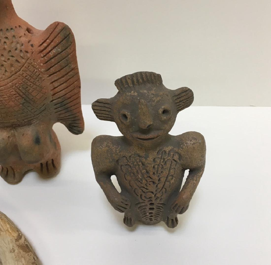 PRE-COLUMBIAN STYLED FIGURE AND FOSSIL - 10