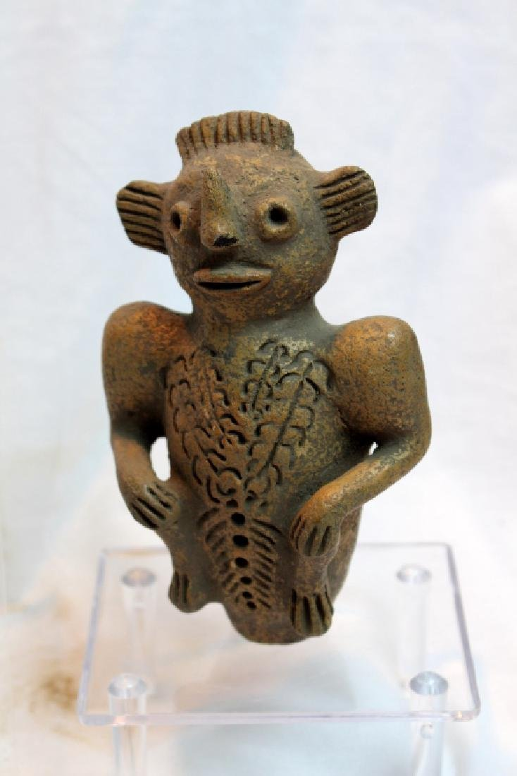 PRE-COLUMBIAN STYLED FIGURE AND FOSSIL - 7