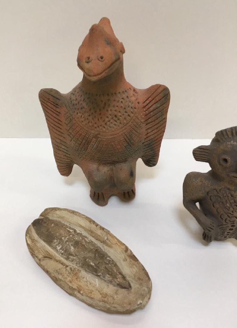 PRE-COLUMBIAN STYLED FIGURE AND FOSSIL - 9