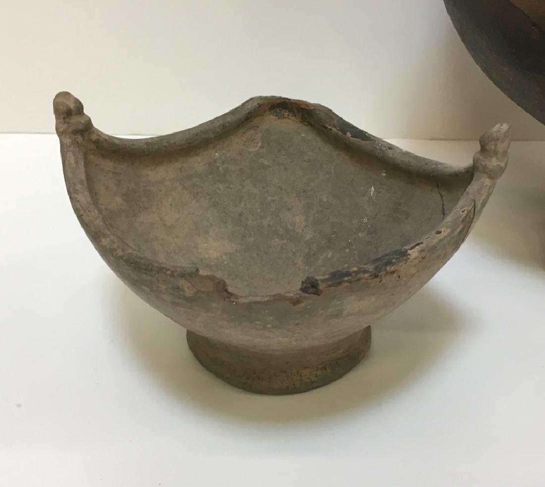 LARGE PRE-COLUMBIAN STYLED BOWLS & BEAD - 10