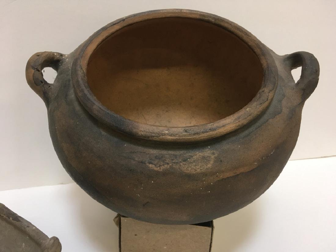 LARGE PRE-COLUMBIAN STYLED BOWLS & BEAD - 12
