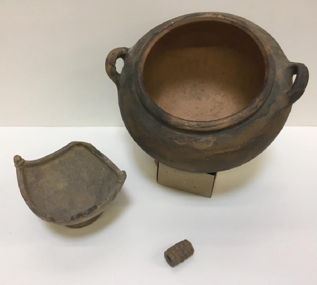 LARGE PRE-COLUMBIAN STYLED BOWLS & BEAD