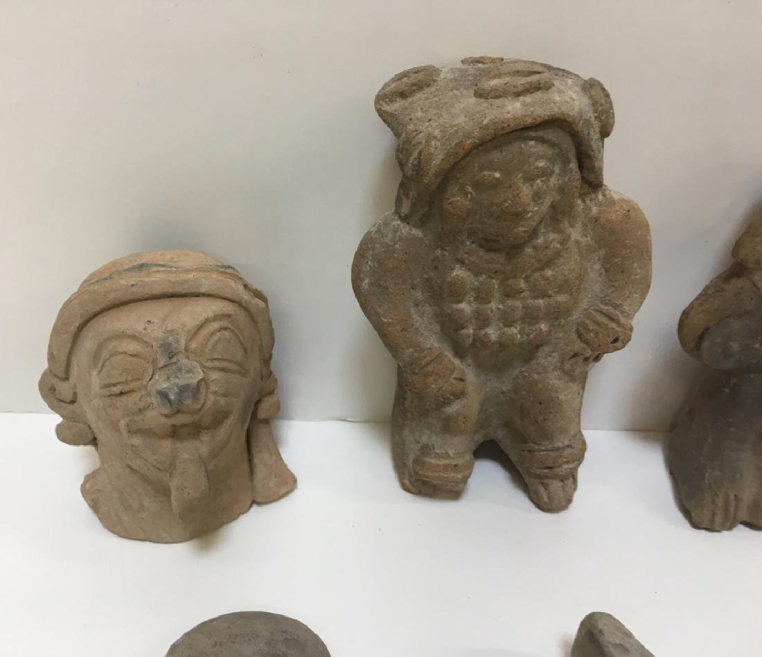 GROUP OF PRE-COLUMBIAN FIGURES OR HEADS - 10