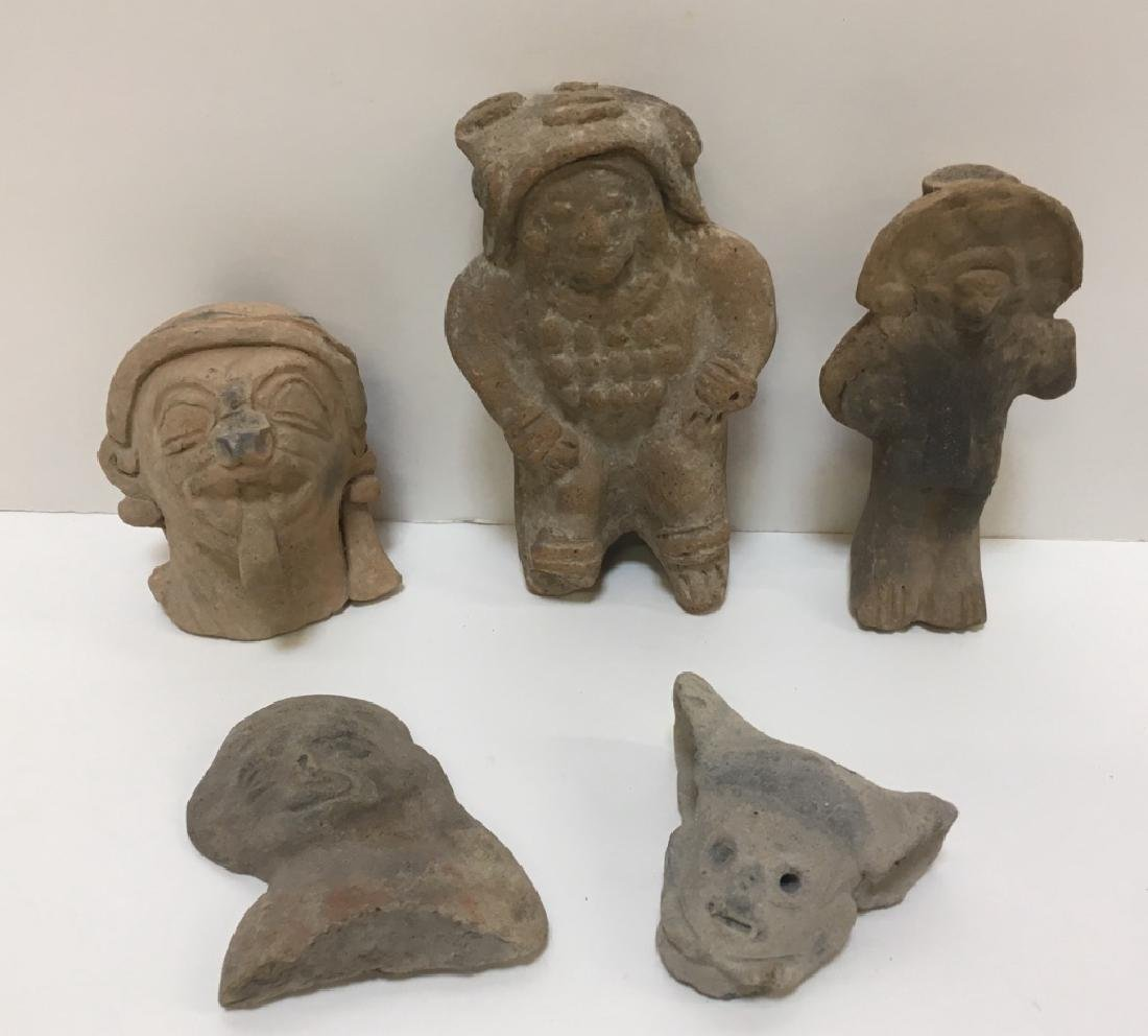 GROUP OF PRE-COLUMBIAN FIGURES OR HEADS