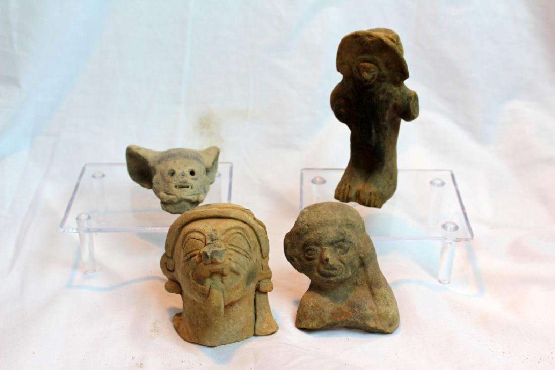 GROUP OF PRE-COLUMBIAN FIGURES OR HEADS - 2