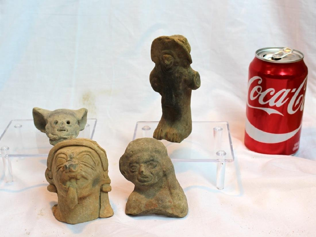 GROUP OF PRE-COLUMBIAN FIGURES OR HEADS - 3