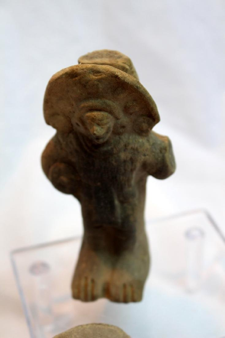 GROUP OF PRE-COLUMBIAN FIGURES OR HEADS - 5