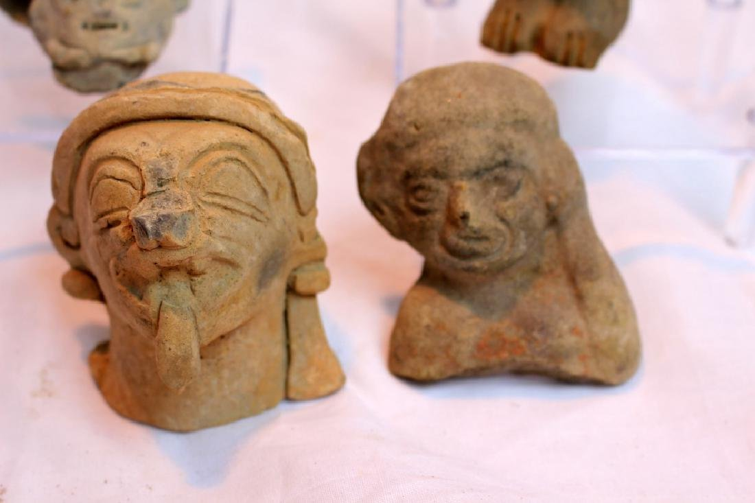 GROUP OF PRE-COLUMBIAN FIGURES OR HEADS - 6