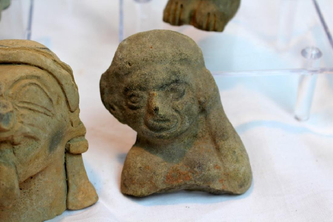 GROUP OF PRE-COLUMBIAN FIGURES OR HEADS - 8