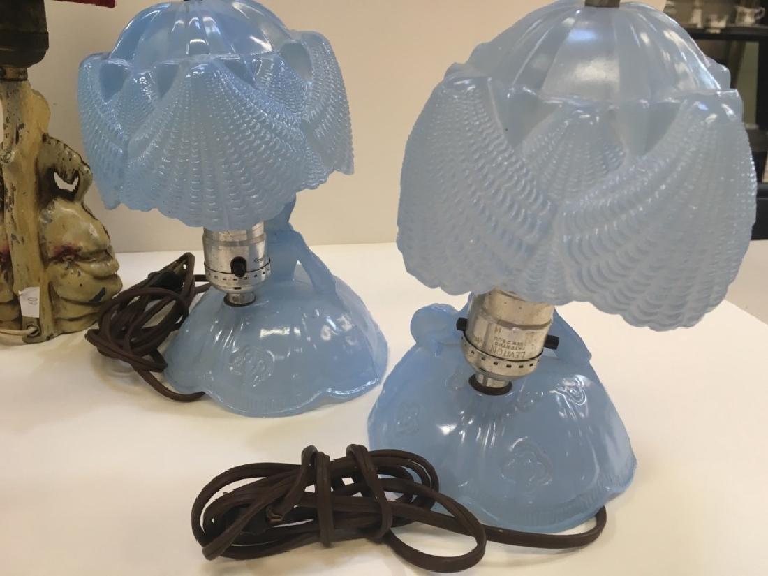 FIVE VINTAGE BOUDOIR LAMPS - 10