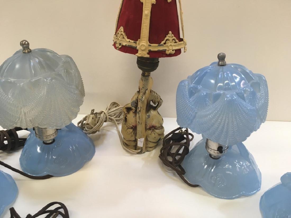 FIVE VINTAGE BOUDOIR LAMPS - 8