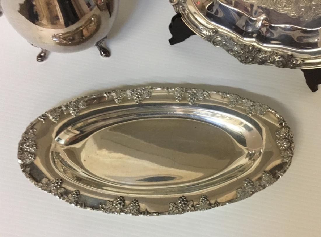 3 PCS OF SILVER-PLATE HOLLOWWARE - 3