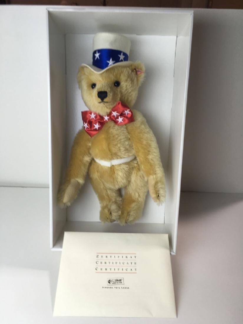 STEIFF DANBURY MINT FIRST AMERICAN TEDDY BEAR 38 E