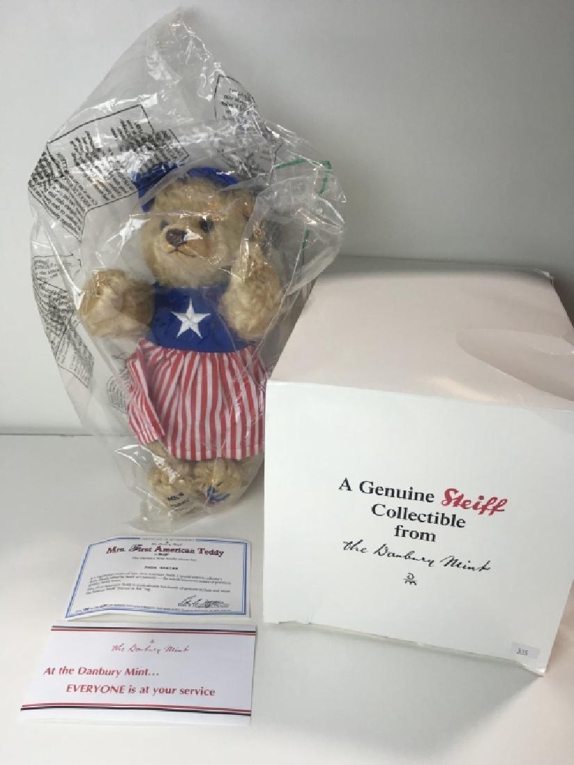 STEIFF DANBURY MINT MRS. FIRST AMERICAN TEDDY BEAR