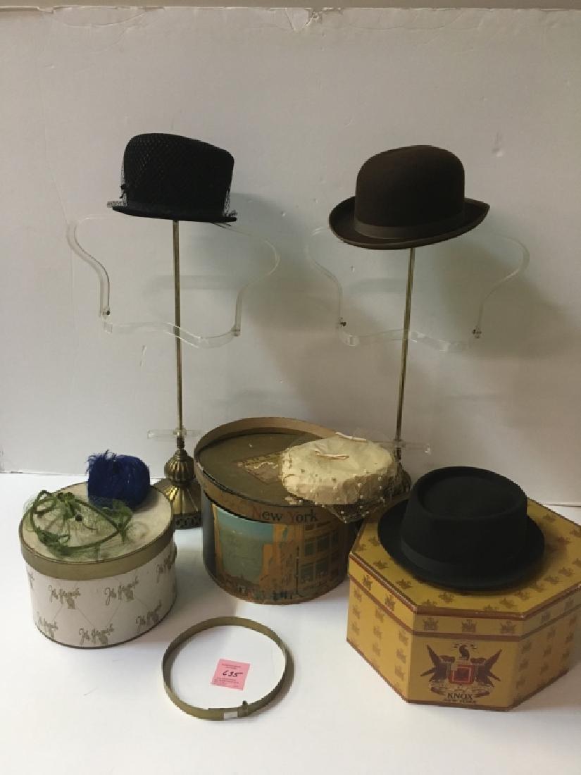 VINTAGE HATS, HAT BOXES & STORE DISPLAYS