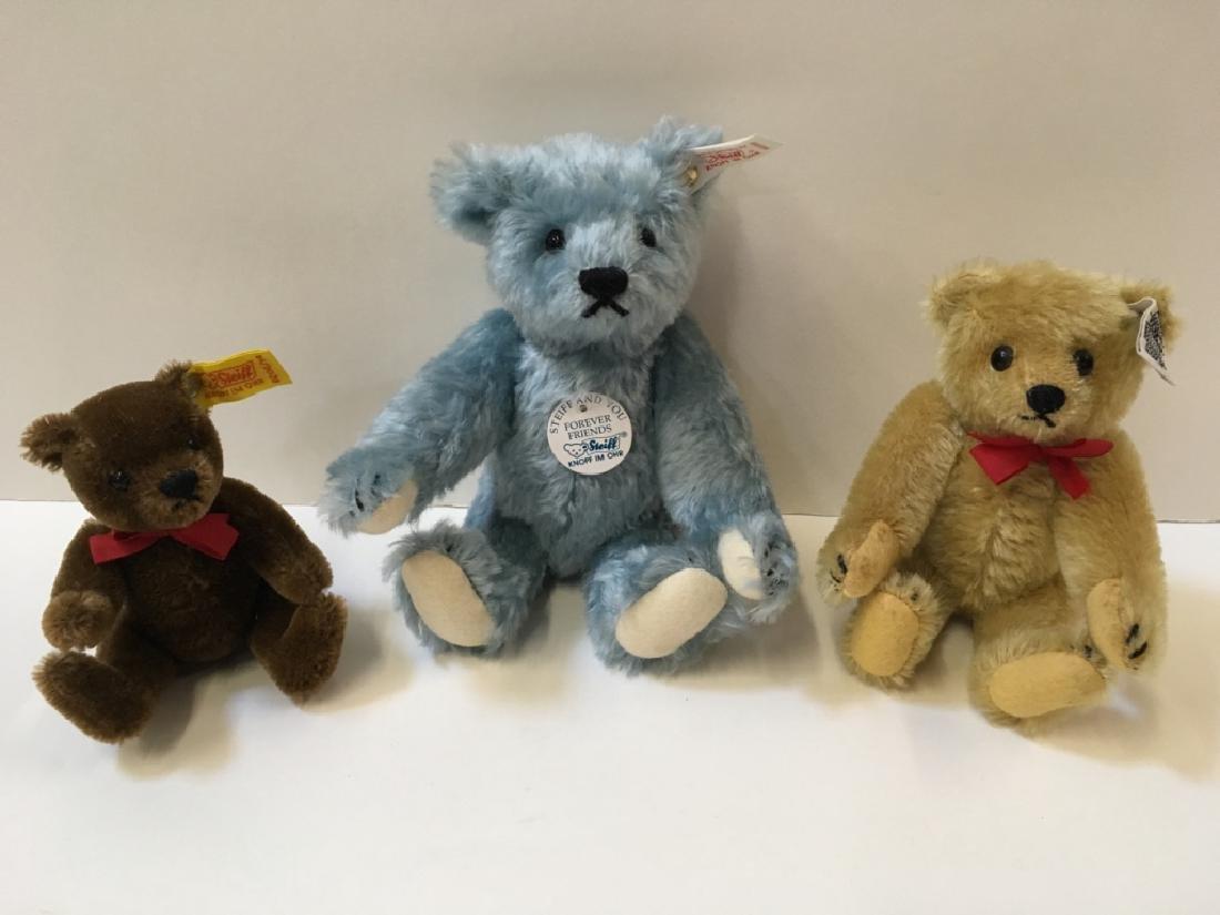 THREE STEIFF TEDDY BEARS