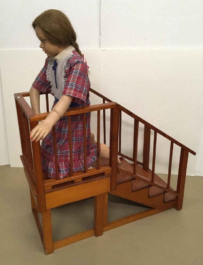 STORE DISPLAY MANNEQUIN & WOODEN STAIRS