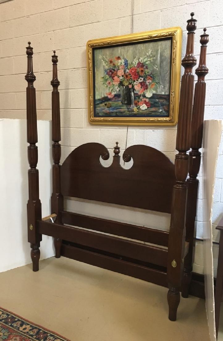 GAMMON FURNITURE DOUBLE MAHOGANY 4 POST BED