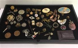TRAY LOT  GEMINI  MERCURY COINS JEWELRY  MORE