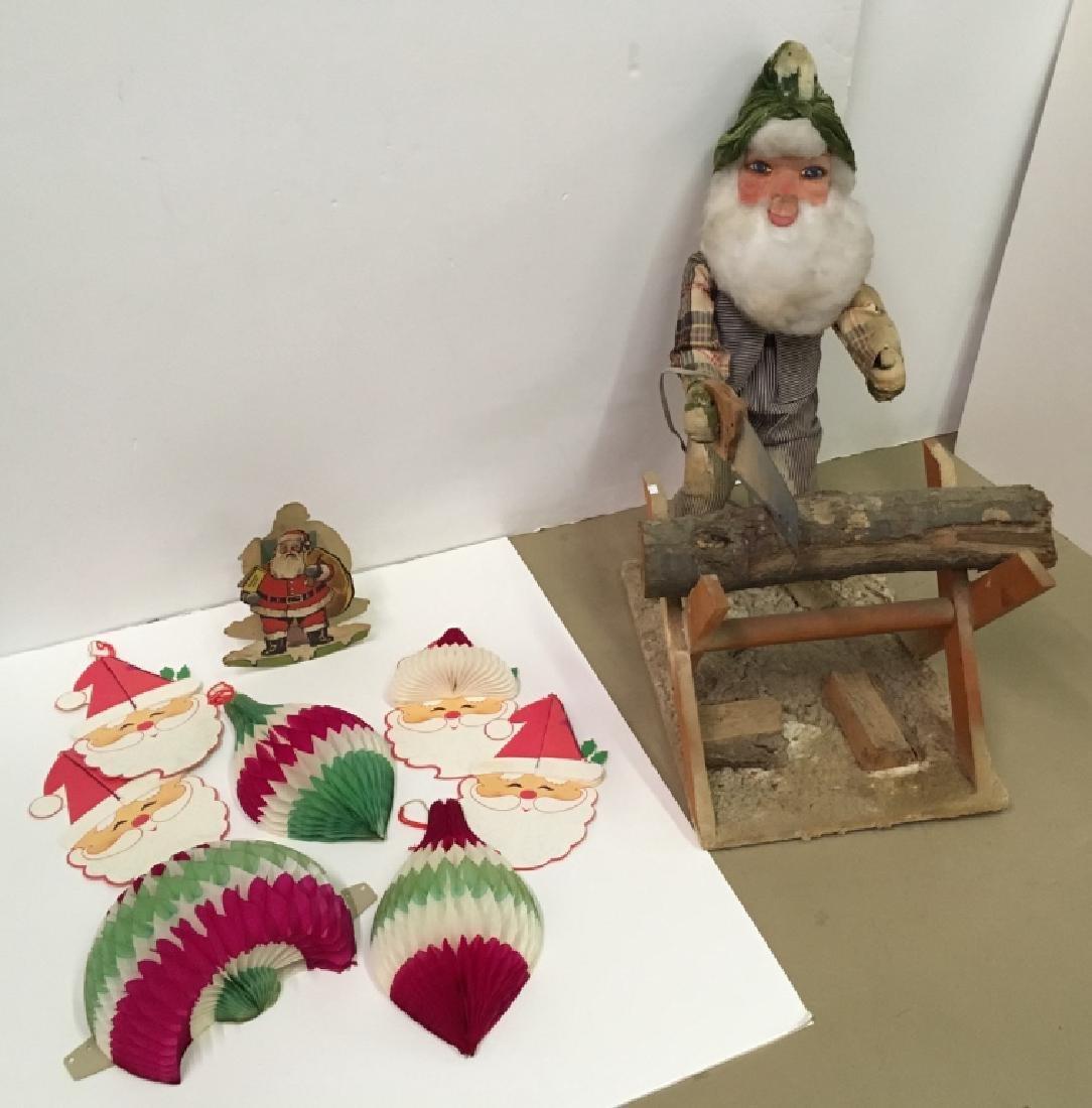 VINTAGE CHRISTMAS ELF STORE DISPLAY & DECORATIONS