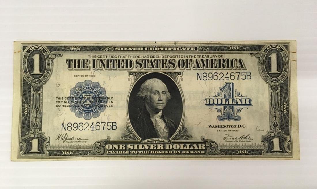LARGE 1923  $1 SILVER CERTIFICATE