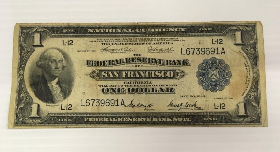 SERIES 1918 $1 NATIONAL CURRENCY SAN FRANCISCO