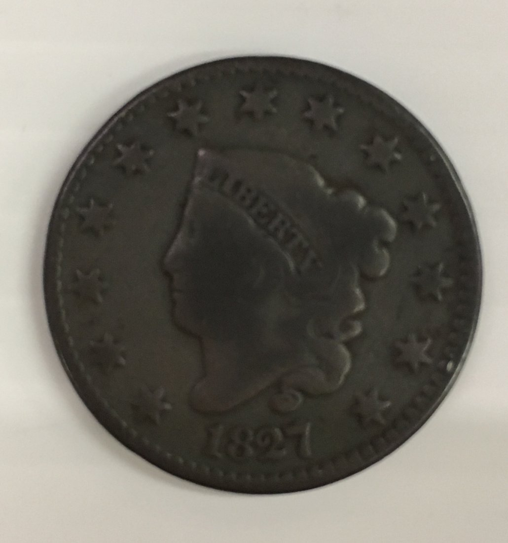 1827 CENT AND NICE 1967 2 CENT