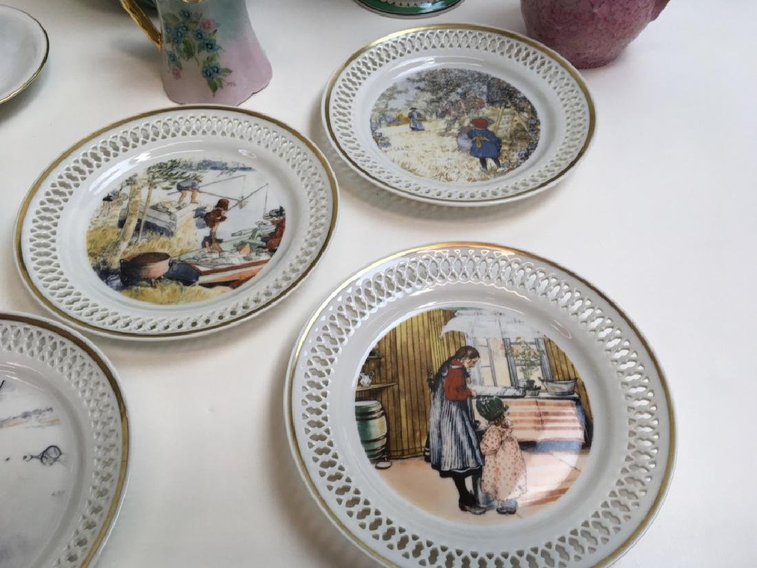 14 PCS OF DECORATIVE PORCELAINS & CERAMIC - 3