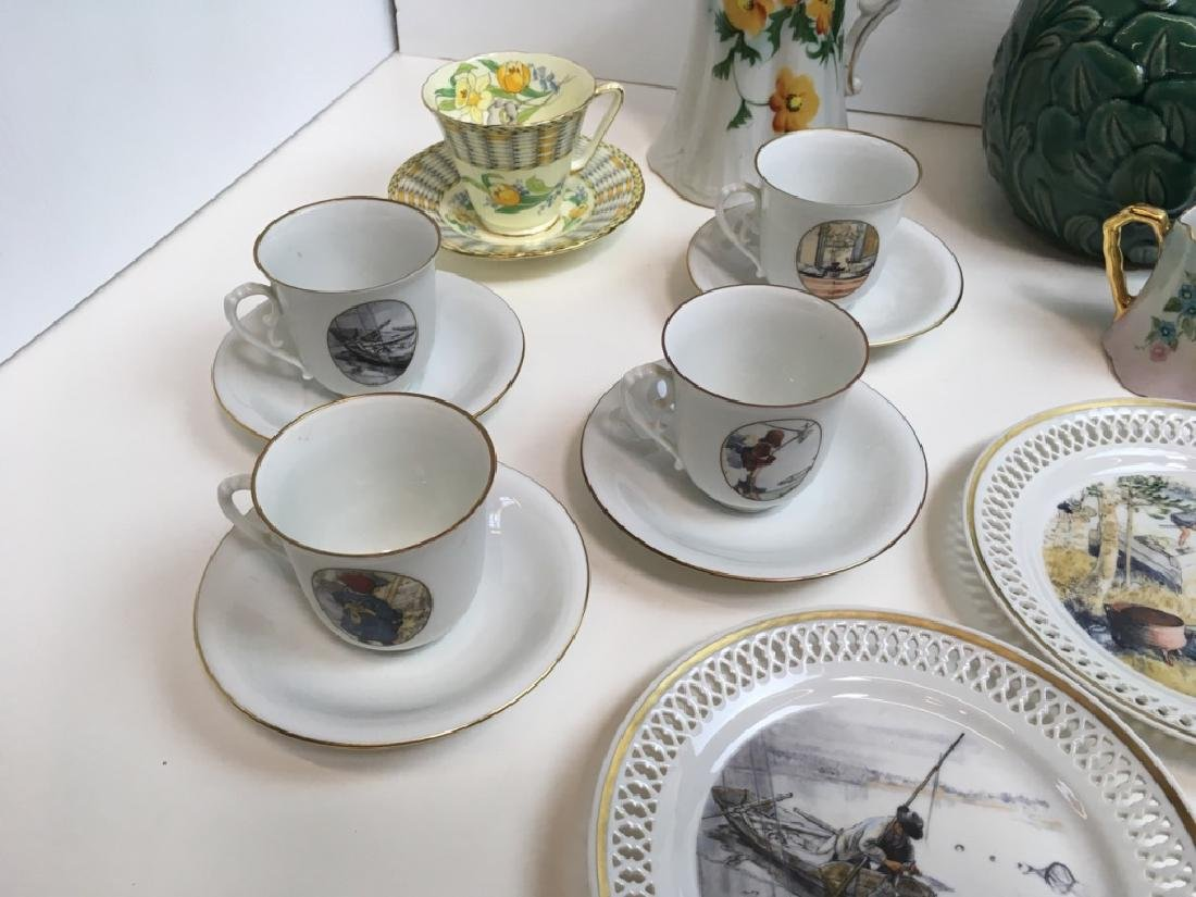 14 PCS OF DECORATIVE PORCELAINS & CERAMIC - 7