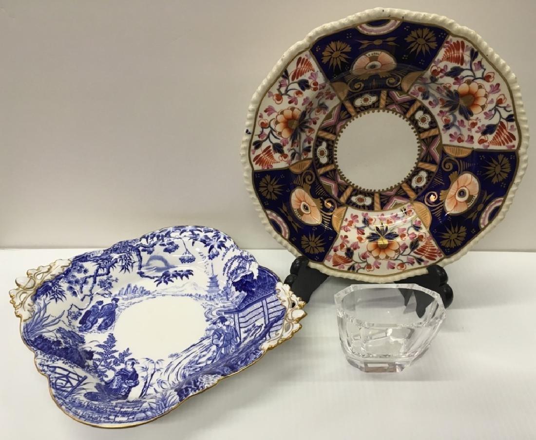 ROYAL CROWN DERBY PORCELAINS & SIGNED ART GLASS