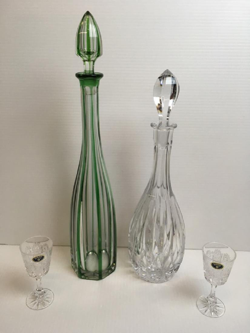 4 PCS OF GLASSWARE - DECANTERS & STEMWARE