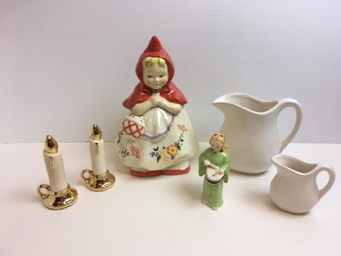 6 PCS - COOKIE JAR, OCCUPIED JAPAN, McCOY