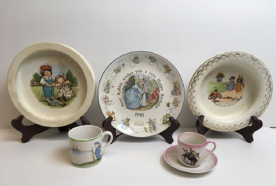 5 PCS OF VINTAGE BABY & YOUTH PORCELAINS